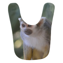 Amazing Squirrel Monkey Baby Bib