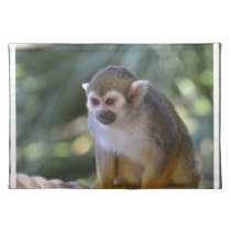 Amazing Squirrel Monkey Cloth Placemat