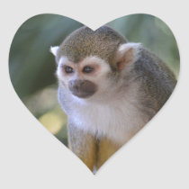 Amazing Squirrel Monkey Heart Sticker