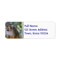 Amazing Squirrel Monkey Label
