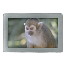 Amazing Squirrel Monkey Rectangular Belt Buckle