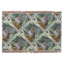 Amazing Squirrel Monkey Throw Blanket