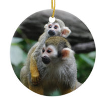 Baby Squirrel Monkey  Ornament