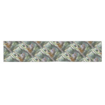 Inquisitive Squirrel Monkey Short Table Runner
