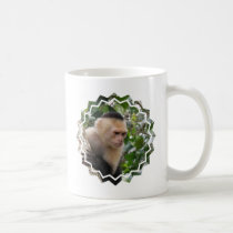 White Cheeked Capuchin Monkey  Coffee Mug